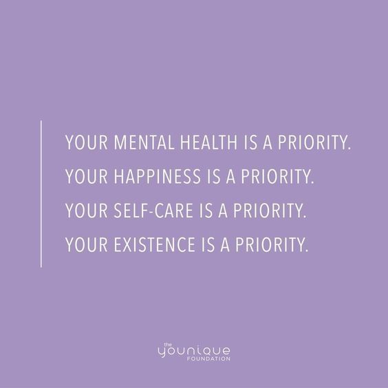 Mental health quotes priority