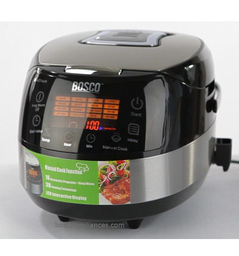 BOSCO BMC900X Multifunciton Cooker. Features 17 auto functions as well as Manual Cook function to be able to cook for a specific amount of time at desired temperature