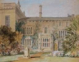 Joseph Mallord William Turner, 'The East Front ['Garden Front'] of Farnley Hall, with the Flower Garden and a Sundial' 1815
