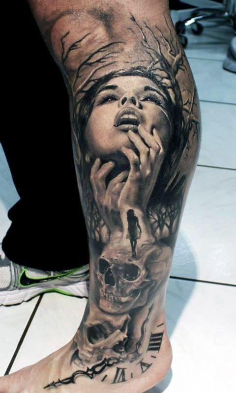 50 Leben Tod Tattoo Designs für Männer – Masculine Ink Ideen