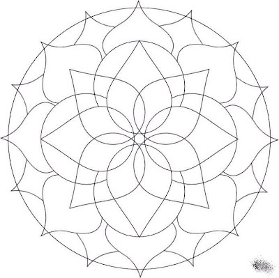 Mandala. Print out and color to distract from difficult moments.