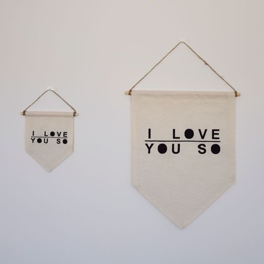 Made By Mee + Co | I Love You So Fabric Banner