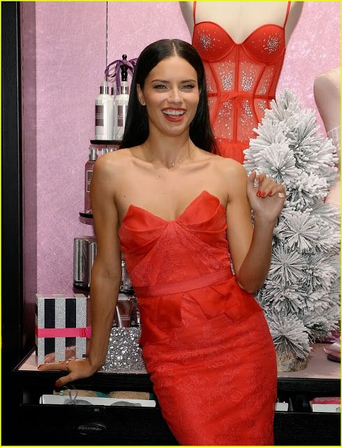 Celeb Diary: Adriana Lima & Karlie Kloss @ Victoria's Secret Angels Celebrate Holiday 2013