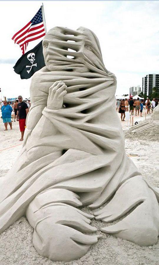 Impossible Sand Sculpture