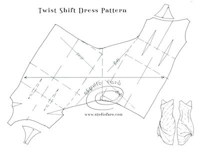 My favourite is the #TwistDrape. What about you? #PatternPuzzle - Twist or Cowl Shift Dress