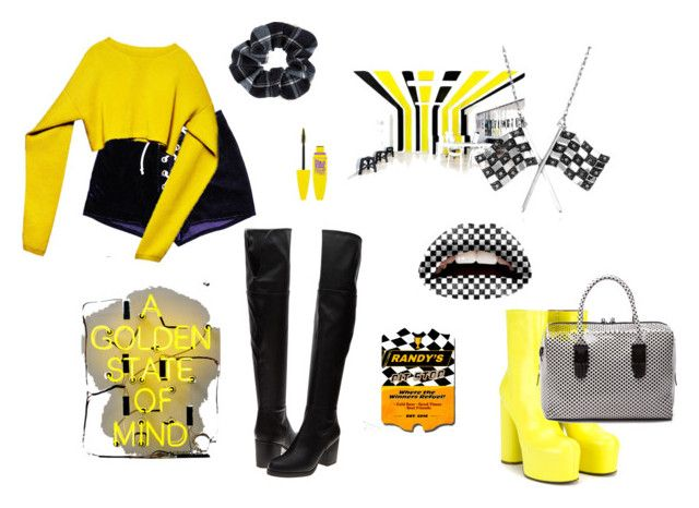 Racing Stripes by cloudwatcher101 on Polyvore featuring moda, Steve Madden, Vetements, Opening Ceremony, Belk & Co., Accessorize, ESPRIT and Race