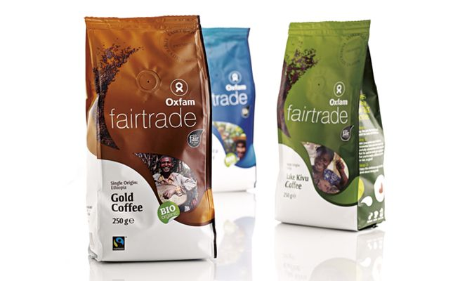 Oxfam fairtrade coffee. www.quatremains.be