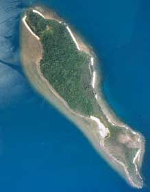 Aerial view of Snapper Island, Hope Islands National Park. Photo: NPRSR.