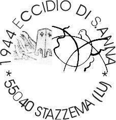 """Annullo filatelico per mostra """"Il sonno della ragione"""", Sant'Anna di Stazzema, a.s. 2000/01. ISA Istituto Statale d'Arte """"Stagio Stagi"""" Pietrasanta."""