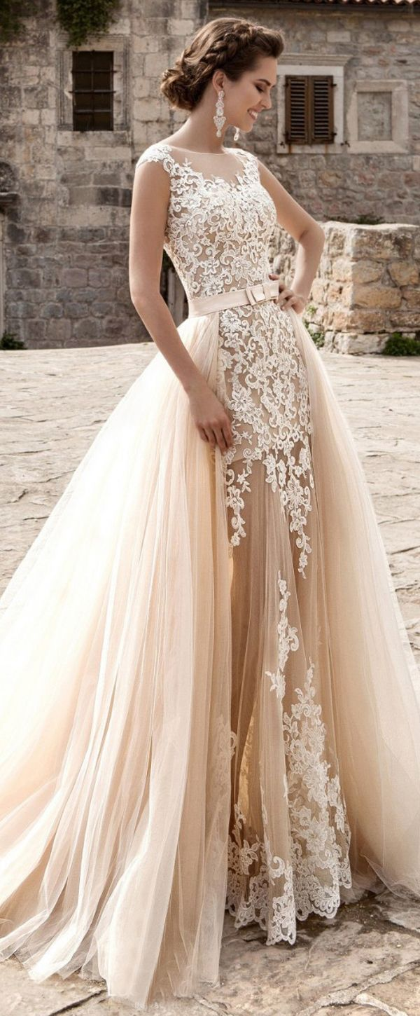 Glamorous Tulle Jewel Neckline See-through 199 in 19 Wedding Dress