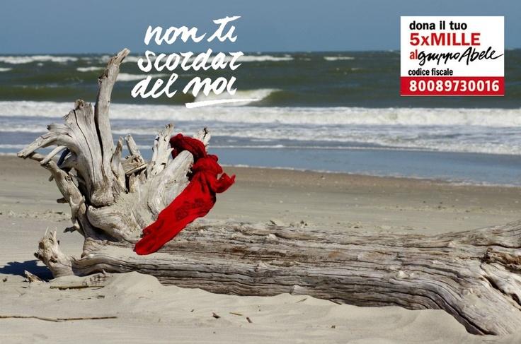"""Primo weekend col sole! Sarà forse merito di Adina McAvoy che dal South Carolina ci ha mandato questo bellissimo """"paesaggio con nodo""""! Non ti scordar del Noi, dona il 5x1000 al Gruppo Abele! CF 800 897 300 16"""