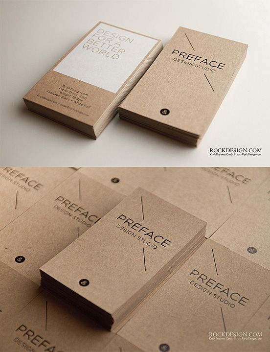 Kraft Business Cards Your cards represent the quality of your organization.