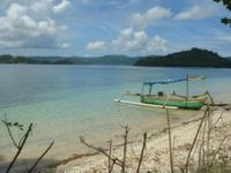 Beachfront building land for sale on the island of Gili Asahan, Lombok, Indonesia.
