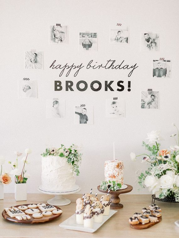 Birthday Photo Wall Dessert Table 1st Parties 4th Gifts