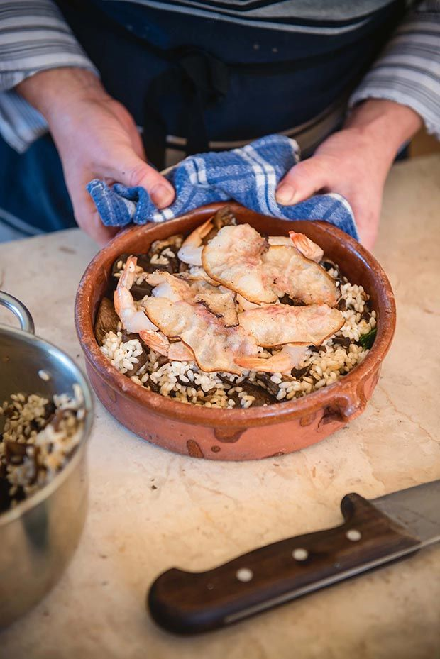 Recipe: Wild mushroom risotto with prawns and hot-smoked guanciale - thisNZlife #recipe #thisNZlife #cooking #chef #prodigaldaughter