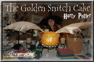Uniquely Grace: The Golden Snitch Cake - Harry Potter Birthday Party Post #11