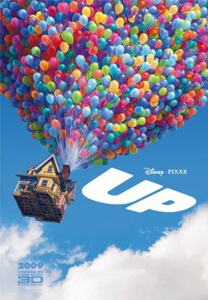 UP (2009) ~ The first eight to ten minutes of this film are so very poignant.  By tying thousands of balloons to his home, 78-year-old Carl sets out to fulfill his and his dead wifes lifelong dream to see the wilds of South America. Russell, a wilderness explorer 70 years younger, inadvertently becomes a stowaway.'