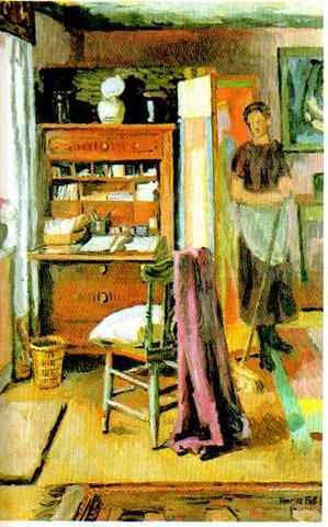 "Vanessa Bell: ""Interior with Housemaid"""