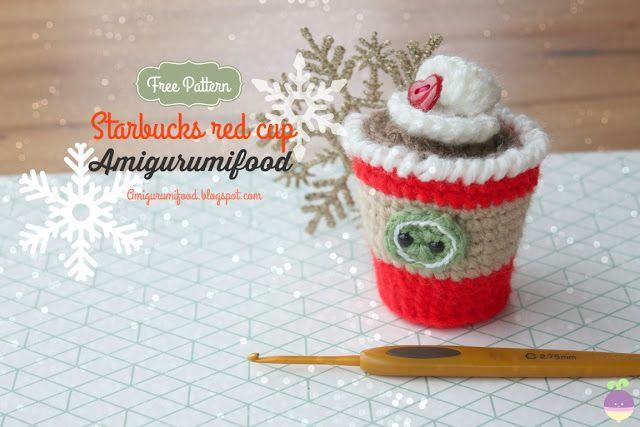 Amigurumi Food: Starbucks red cup amigurumi Free pattern