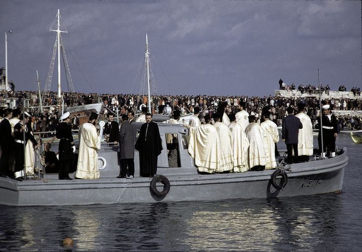 Blessing of the fleet ceremony in Iraklion harbor (1967)