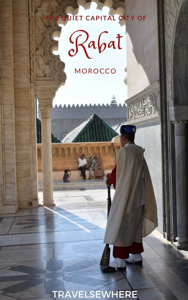 The quiet capital city of Morocco, Rabat is not only an easy day trip from Casablanca, but home to sights like its Medina, the Hassan Tower and the Kasbah of the Udayas, via @travelsewhere