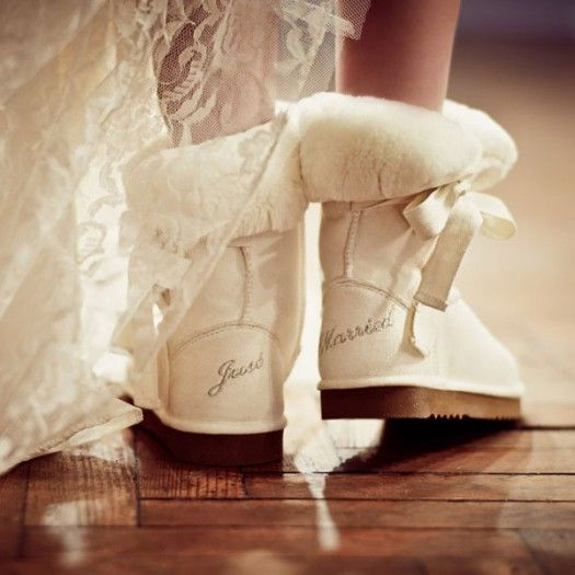 ugg bridal boots<3Ideas, Ugg Boots, Wedding Shoes, Get Married, Wedding Boots, Winter Weddings, The Brides, Just Married, Uggboots