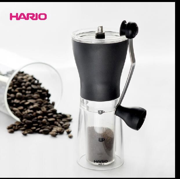 Hario Mill Slim manual Coffee bean Grinder hand made,conical burr grinder, professional co.nical burr ceramic mill,free shipping Details: Could adjust the degree of thickness Sleek, slim design makes it easy for storage Easy to clean, easy to use Can be stored without the handle Beautiful ceramic mill, does not rust Consistent grind for perfect, fresh ...