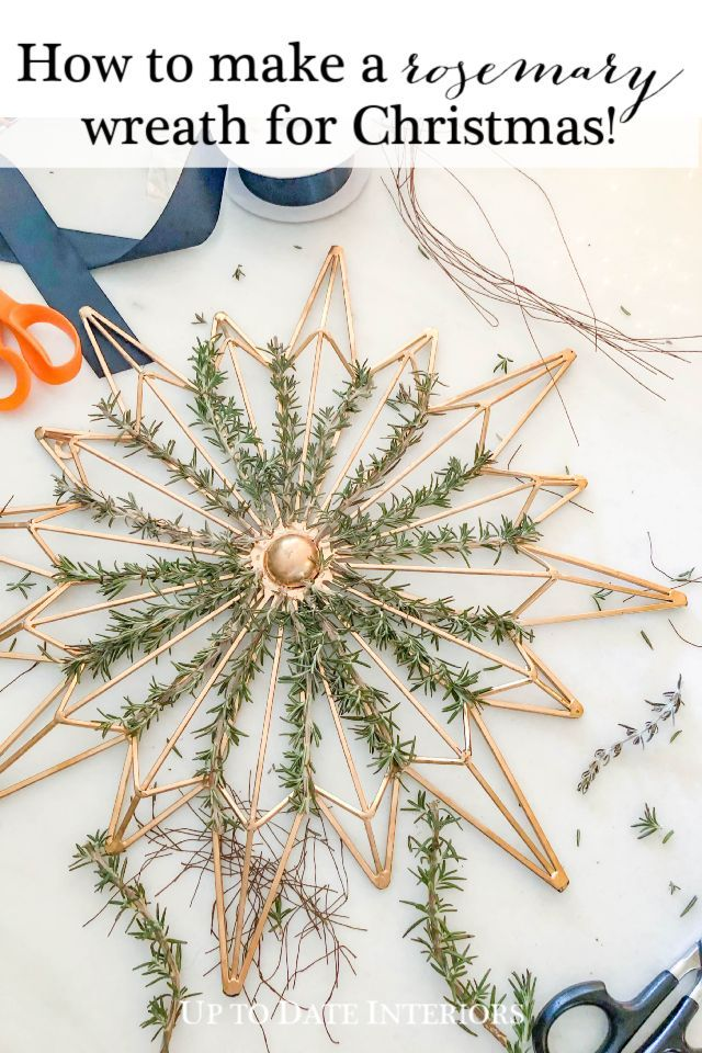 How To Make A Rosemary Wreath Up To Date Interiors Scandinavian Christmas Decorations Wreath Decor Christmas Wreaths Diy
