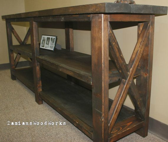 6 foot handcrafted farmhouse console / sofa table - solid wood on