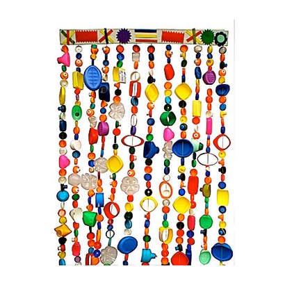 plastic dopjes gordijn van Afroart