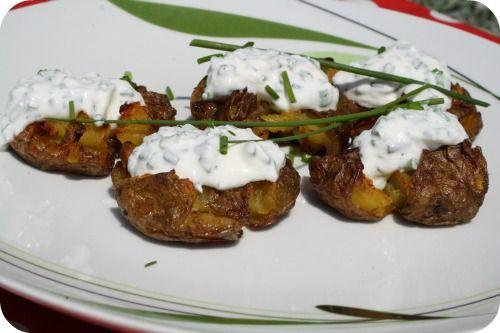 Rozmarýnové brambory s tvarohovým dipem