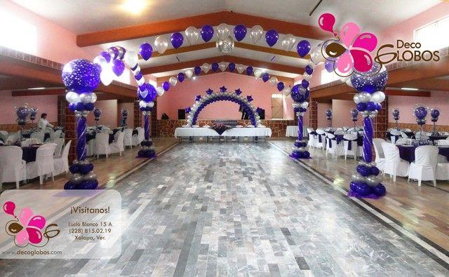 12 best decoraciones para xv a os con globos images on for Decoracion de 15 anos con globos