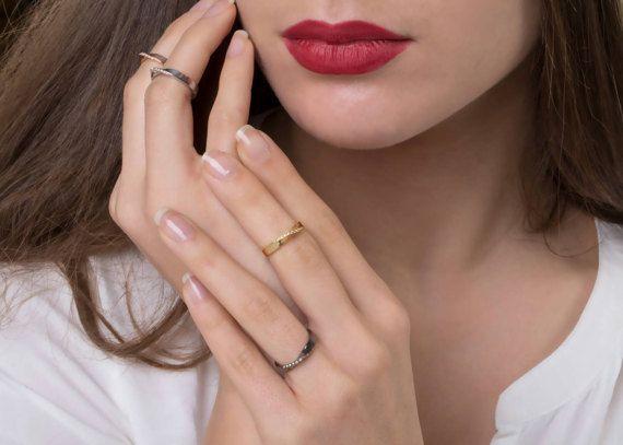 Mobius Gold Ring 18k Moebius Ring Diamond Mobius Ring Woman