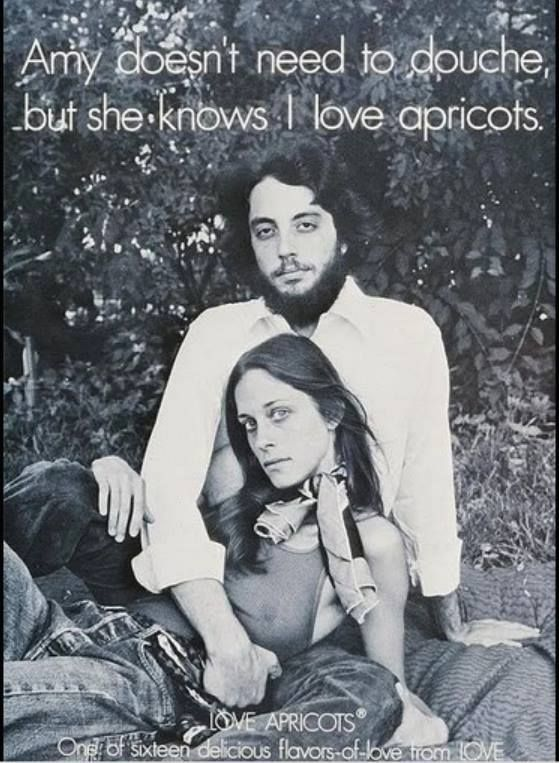 Amy doesn't need...ad for Love feminine hygiene products. I'm pretty sure this ad wouldn't get published too many places today.