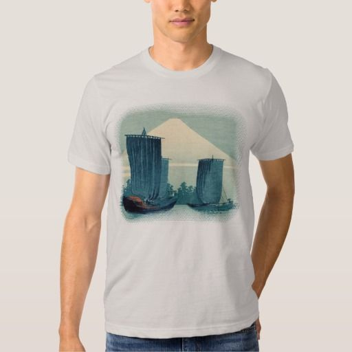 Sailboats and Mount Fuji T-shirt