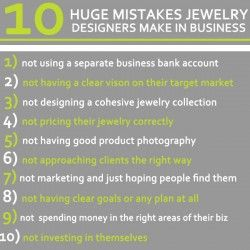 10 HUGE Mistakes Jewelry Designers Make In Business.