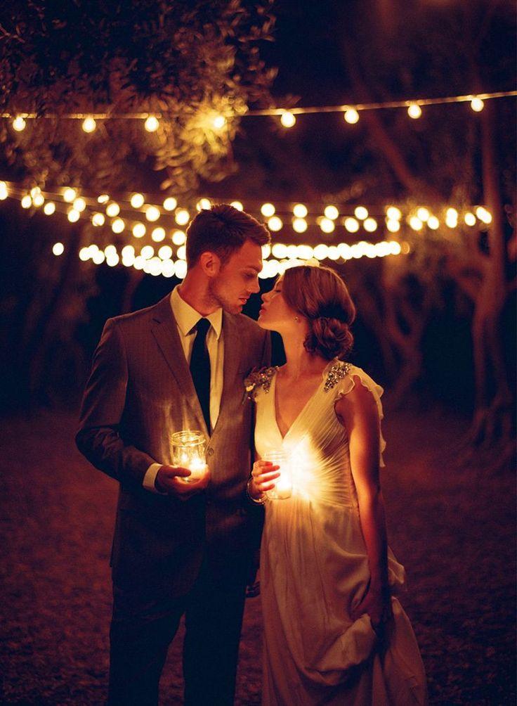 gorgeous night wedding photo ideas