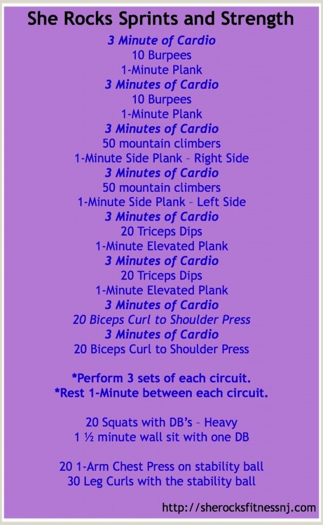 Sprints and Strength workout More