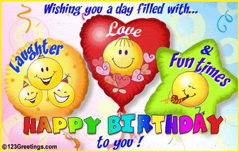 Beautiful Animated Birthday E Cards   ... Latest Birthday Greetings , Wish Happy Birthday With Romantic E-cards