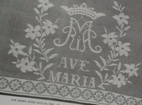 Vtg-40s-Religious-CHURCH-LACES-Filet-Crochet-Pattern-Booklet