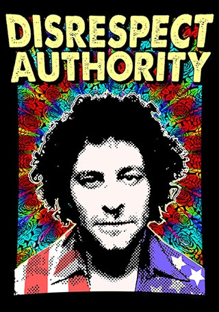 Abbie Hoffman Poster Print by Guy Sparger
