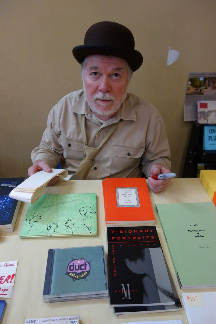 Paul Dutton of Underwhich Editions. Meet the Presses Literary Market. November 19, 2016. Photo by Don McLeod.