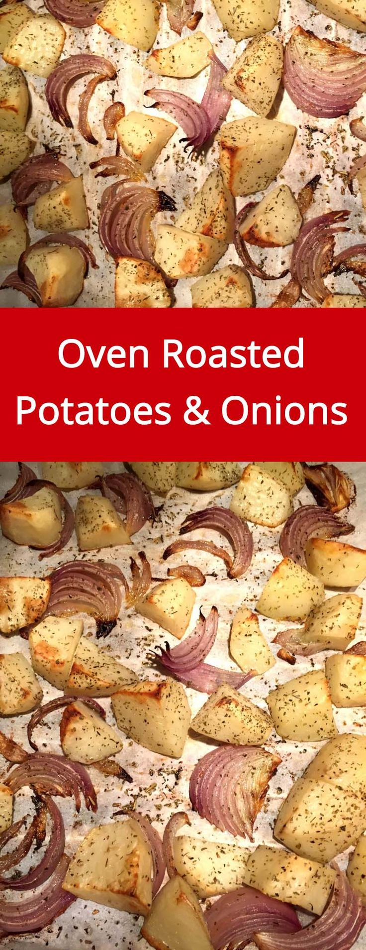 Oven Roasted Potatoes And Onions Recipe - super easy and yummy, the oven does all the work!   MelanieCooks.com