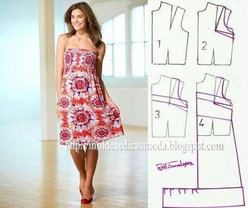 Patrones de vestidos holgados casuales gratis08