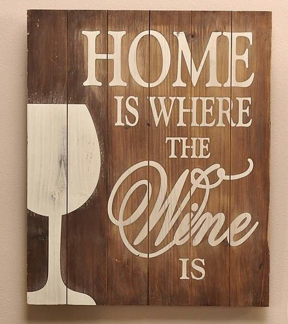Home is Where Wine Textual Art on Wood                                                                                                                                                                                 More