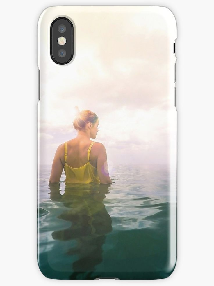 "Eutierria iPhone Case. Eutierria is the word for ""a good and positive feeling of oneness with the earth and its life forces."" / A woman in a yellow dress standing alone in the seemingly endless ocean.  • Also buy this artwork on wall art, apparel, home decor, and more. #eutierria #woman #girl #nature #landscape #sea #ocean #photography #seascape #cloudscape #yellow #dress #iphone #case #tech #smartphone"