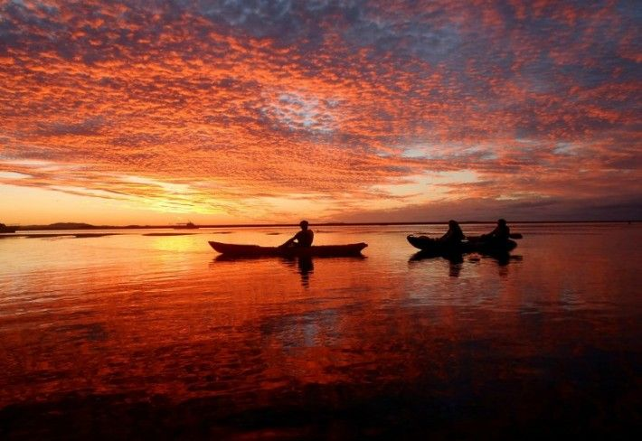 Kayaking in the Town of 1770 - Queensland, Australia