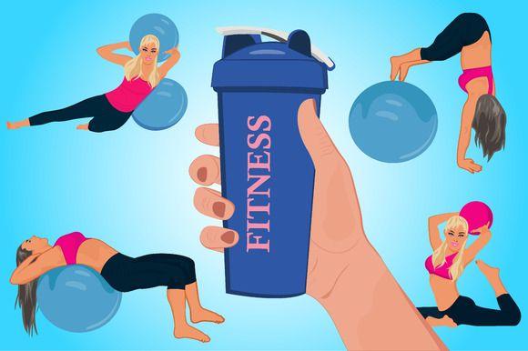 hand holding shake bottle, fitness   @creativework247