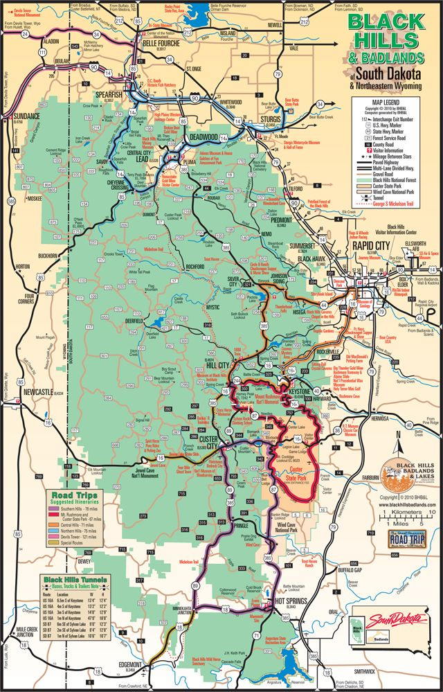 Suggested Itineraries and Destinations in the Black Hills & Badlands | South Dakota