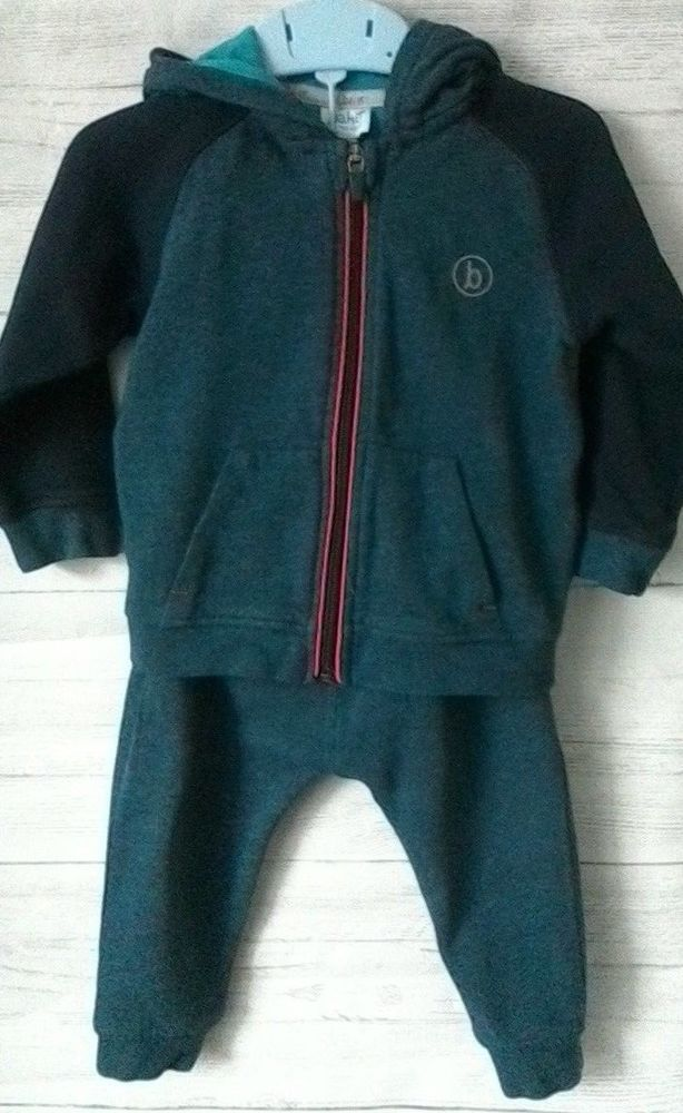 22cc00df24a7ce Baby Boys Ted Baker Tracksuit Hooded Jacket and Joggers 12-18 months   TedBaker